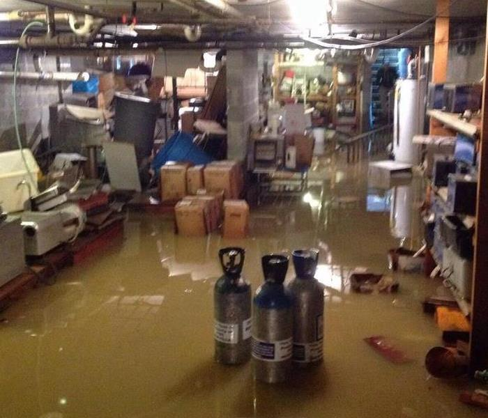 5,000 Sq Feet Flooded in Chambersburg Business Basment Before