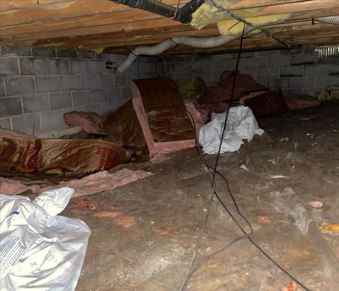 Insulation  on the ground and in crawl space