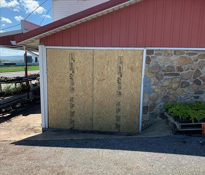Commercial Storm Damage Board Up to Secure Property  After