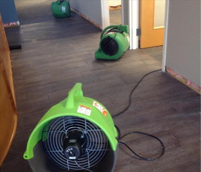 Drying a Commercial Office after a Water Line Breaks