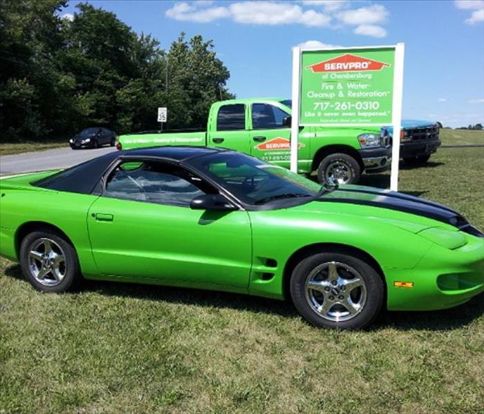 SERVPRO of Chambersburg Vehicles, Always Green!