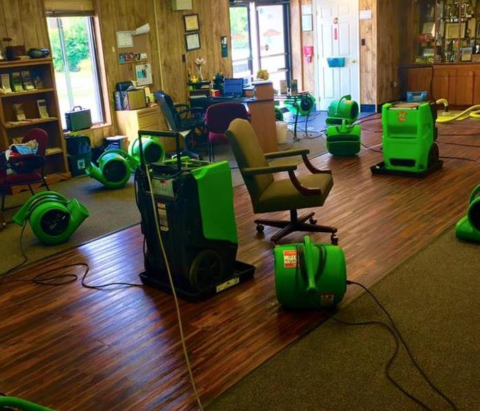 Water Damage Training at the SERVPRO office.